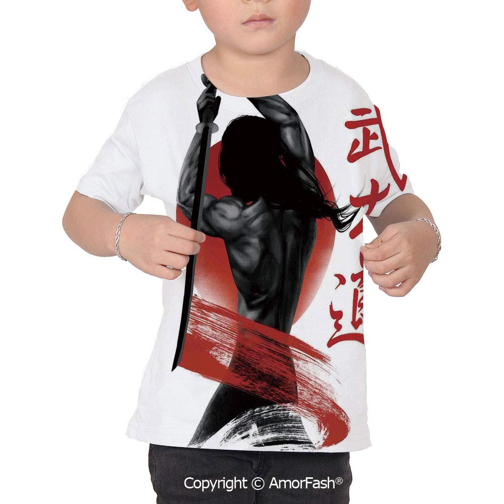 Japanese Boys and Girls All Over Print T-Shirt,Crew Neck T-Shirt,A ...