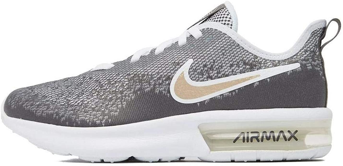 Nike Air MAX Sequent 4 EP (GS), Zapatillas de Atletismo para Mujer, Multicolor (White/White/Dark Grey/Blur 000), 35.5 EU: Amazon.es: Zapatos y complementos