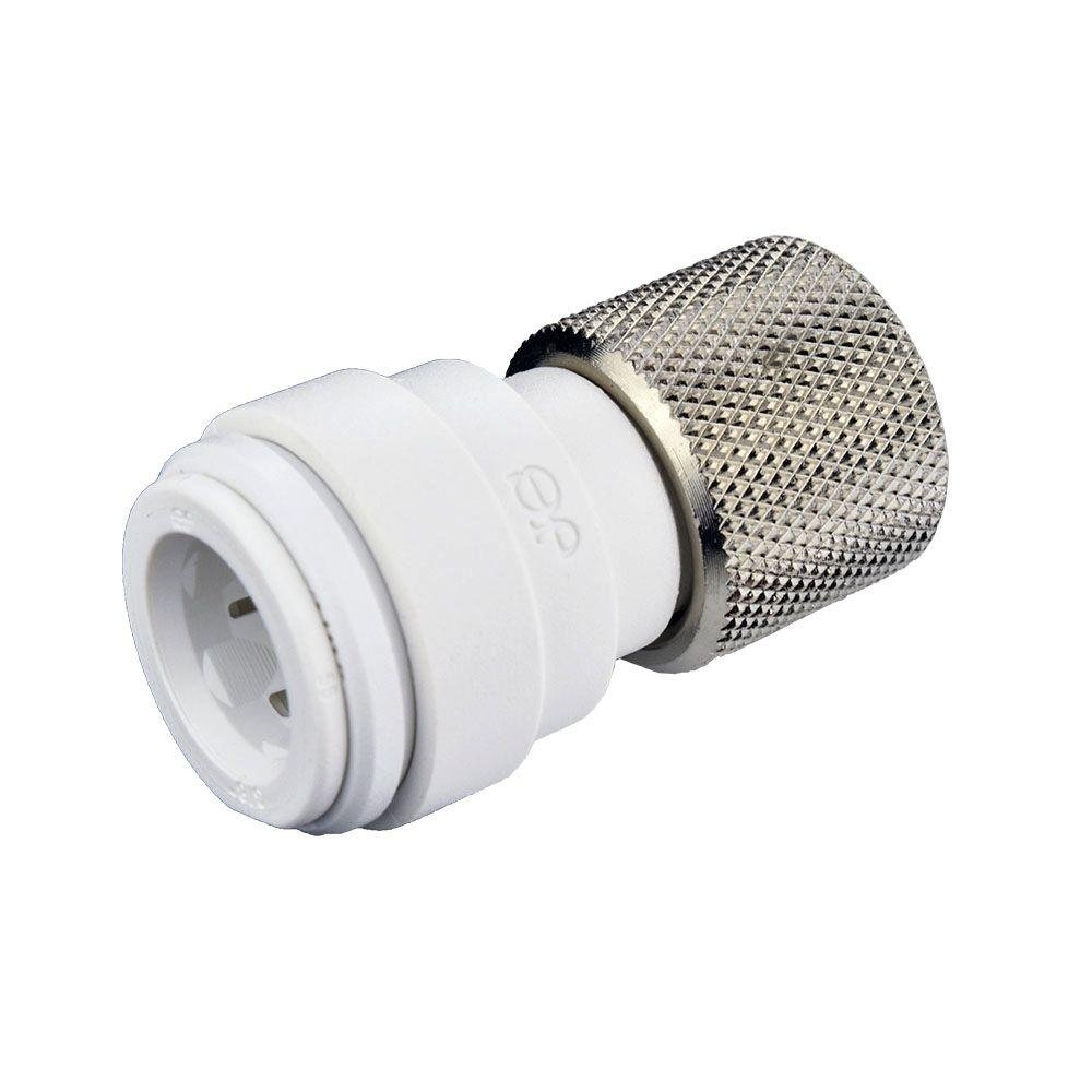 John Guest Speedfit PSEI6012U9P Female Compression Connector 3/8 inch x 3/8 inch Compression Push-To-Connect