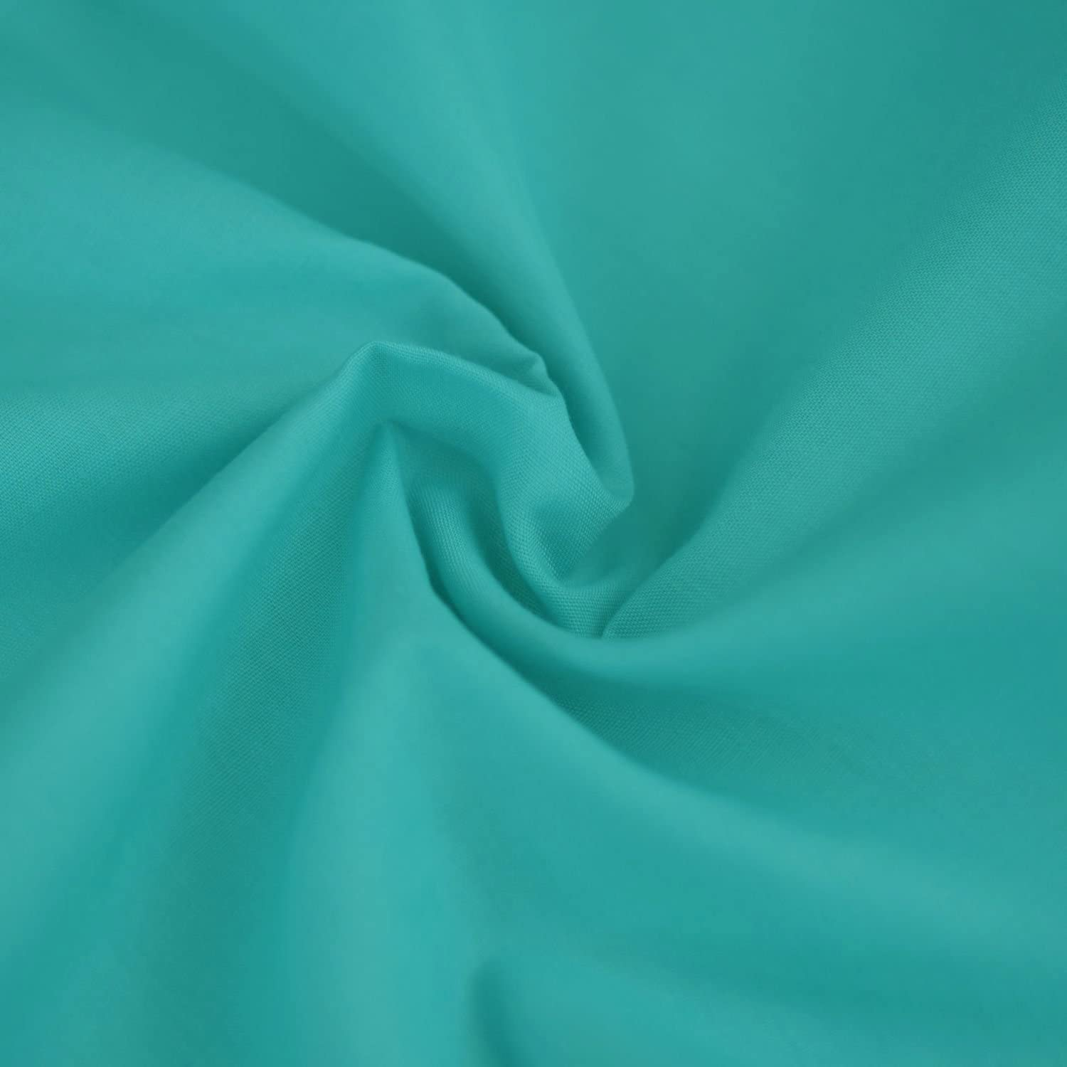 Aqua Turquoise Blue Plain Fabric Material POLY COTTON Crafts Quilting Sewing 1M