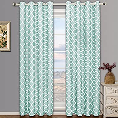 Set of 2 Panels 104Wx84 L -Royal Tradition - Meridian - Teal Blue- Thermal Insulated Blackout Curtain, 52-Inch by 84-Inch each Panel. Package contains set of 2 panels 84 inch long.