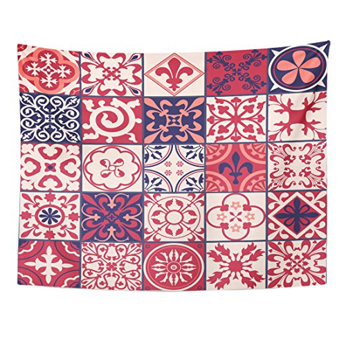 Breezat Tapestry Pink Floral of Moroccan Spanish for for sale  Delivered anywhere in USA