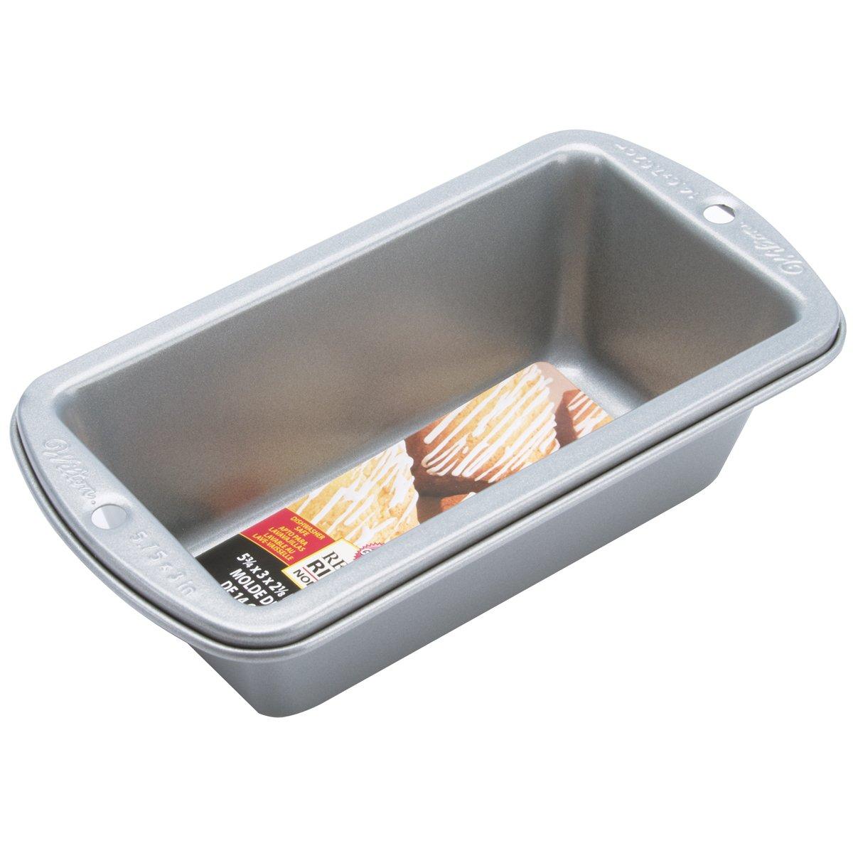 Wilton 14.6 x 7.6 cm (5.75 x 3-Inch) Recipe Right Mini Loaf Tin 2105-949