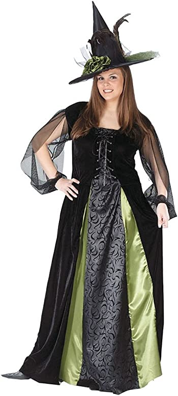 Women\'s Plus Size Goth Maiden Witch Adult Costume, Multi, Plus Size