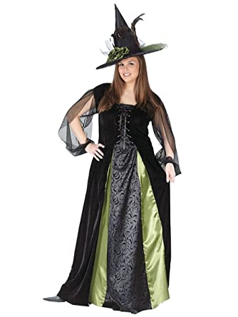 588ca0aa4 Amazon.com: Fun World Women's Plus Size Goth Maiden Witch Adult Costume,  Multi, Plus Size: Clothing