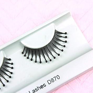 524c2e5aae4 Amazon.com : Elegant Lashes D870 Decorated Eyealsh (Natural False Eyelash  with Black Beads) Halloween Dance Rave Costume : Fake Eyelashes And  Adhesives : ...