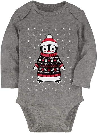 Tstars Baby Boy//Baby Girl Ugly Christmas Sweater Cute Baby Long Sleeve Onesie