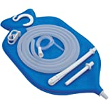 HealthGoodsAU - Enema Bag Kit in Blue Color for Colon Cleansing With Silicone Hose (2 quart, open top) | Enema Bag with Accessories for Colon Cleansing