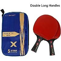 RONDA Pala Tenis De Mesa Huieson 2PCS 5 Estrellas Ligeras Y Potentes Baquetas De Ping Pong De Carbono con Mango Cómodo…