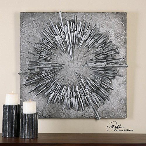 Nebulus Silver Wall Art Model - silver wall decoration