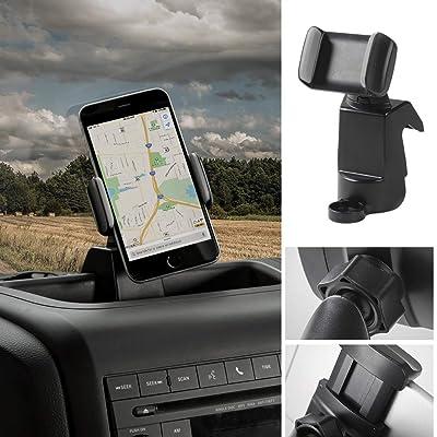 Voodonala for Jeep JK Phone Holder Mount for 2011-2020 Jeep Wrangler JK JKU, Black: Automotive