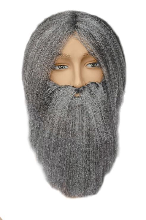 Hombre Chino antiguo gris Mist disfraz peluca