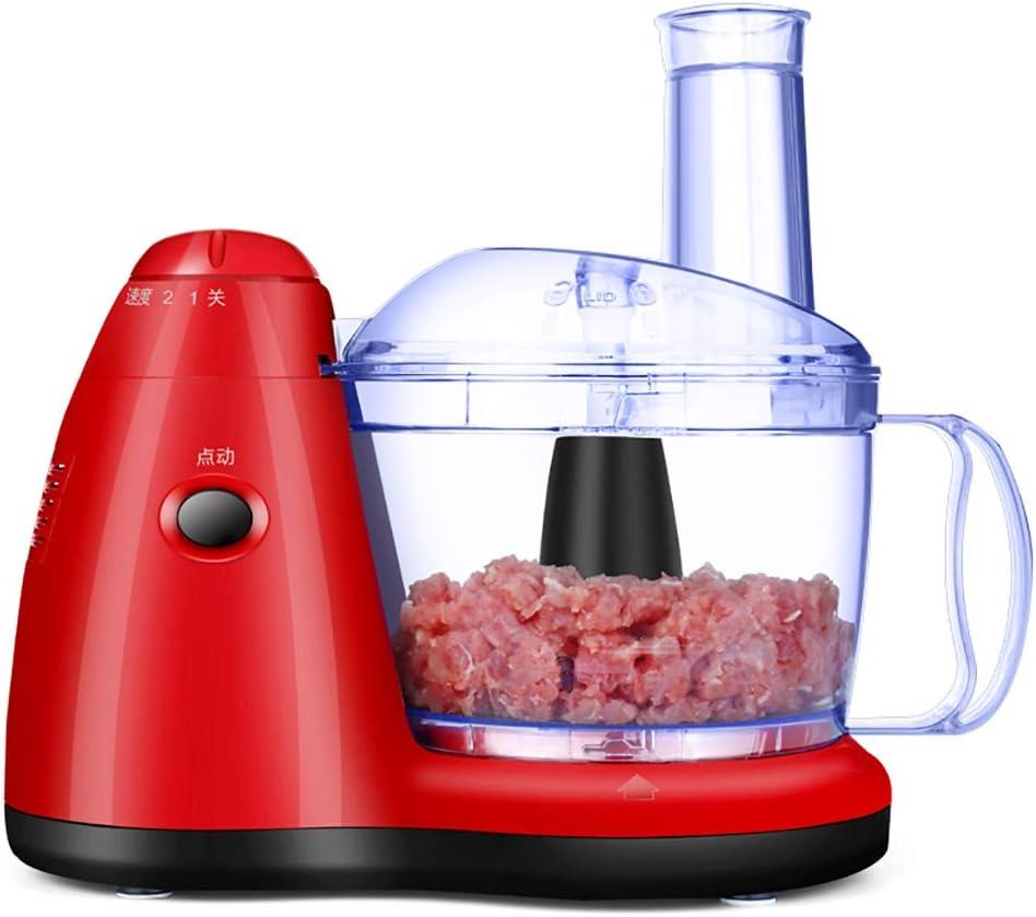 A Procesador de Alimentos eléctrico múltiple Batidora de Cocina Trituradora Trituradora Rallador Rebanadora 2-Aceleración y Control de Pulso para Carne, Verduras, Frutas: Amazon.es
