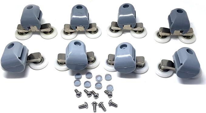 R/éf/érence/ 25 mm de diam/ètre CY-903AB Lot de 8 roulettes doubles et leur support de rechange pour porte de douche