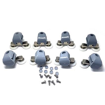Rodamientos dobles para mamparas de ducha, 25 mm de diámetro, piezas de repuesto para ruedas de baño, 8 unidades, CY-903AB: Amazon.es: Bricolaje y ...