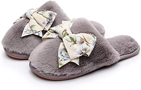Nikai Zapatillas calefactadas para Mujer, Zapatillas de algodón de ...