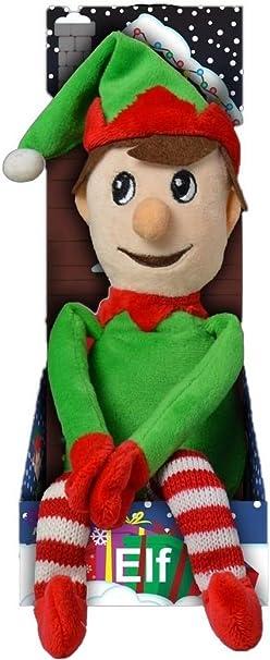 Grande elfo Muñeco de peluche santas ayudante 49cm EN CAJA INFANTIL REGALO DE NAVIDAD - Verde: Amazon.es: Juguetes y juegos