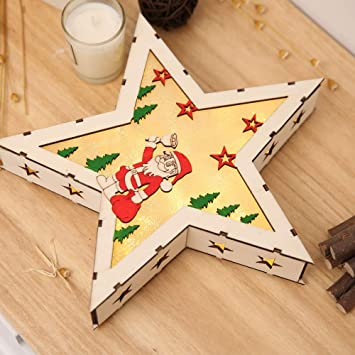 Wooden Star Lights for Christmas Decoration,Table Top Light, Window Top  Light, Wall - Amazon.com: Wooden Star Lights For Christmas Decoration,Table Top