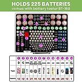 Battery Organizer Holder- Batteries Storage