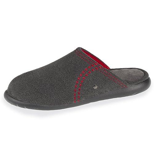 Isotoner - Zapatillas de Estar por Casa Hombre: Amazon.es: Zapatos y complementos