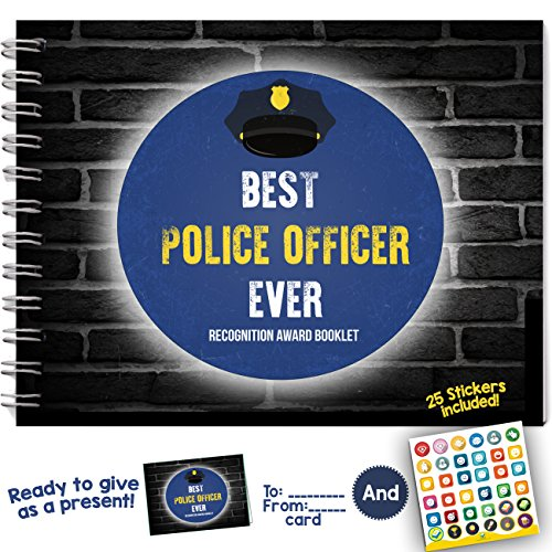 [BEST POLICE OFFICER EVER - Recognition Award Personalizable Booklet with Matching Card Included! Sheriff and Official Appreciation] (Book Week Costume Ideas Diy)
