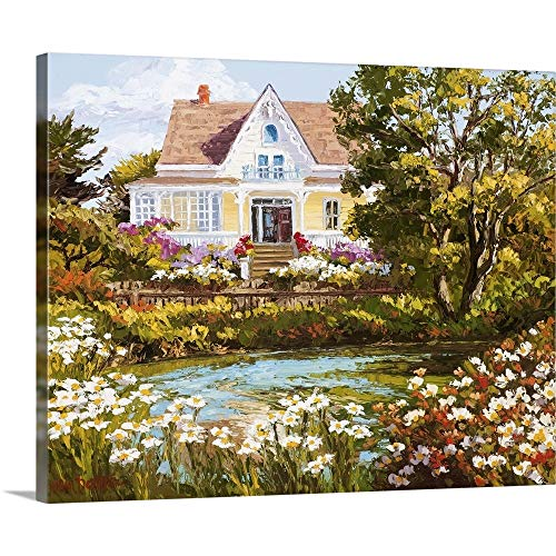 GREATBIGCANVAS Gallery-Wrapped Canvas Entitled Overlooking The Pond by Erin Dertner 14