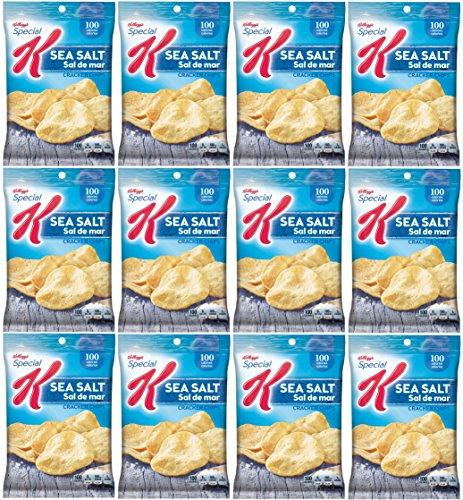 Kellogg's Special K, Baked Cracker Chips, Sea Salt .87 Oz. (Pack of 12)
