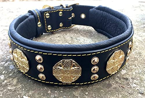 Bestia-Maximus-genuine-leather-dog-collar,-Large-breeds