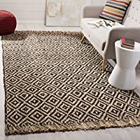 Safavieh Natural Fiber Collection NF266E Hand-Woven Brown and Natural Jute Area Rug (3 x 5)