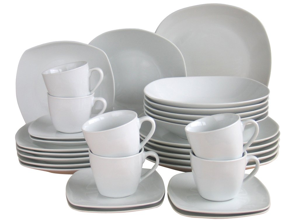 Creatable Square Dinner Ware Set, White, 36 x 30 x 33.5 cm 18028