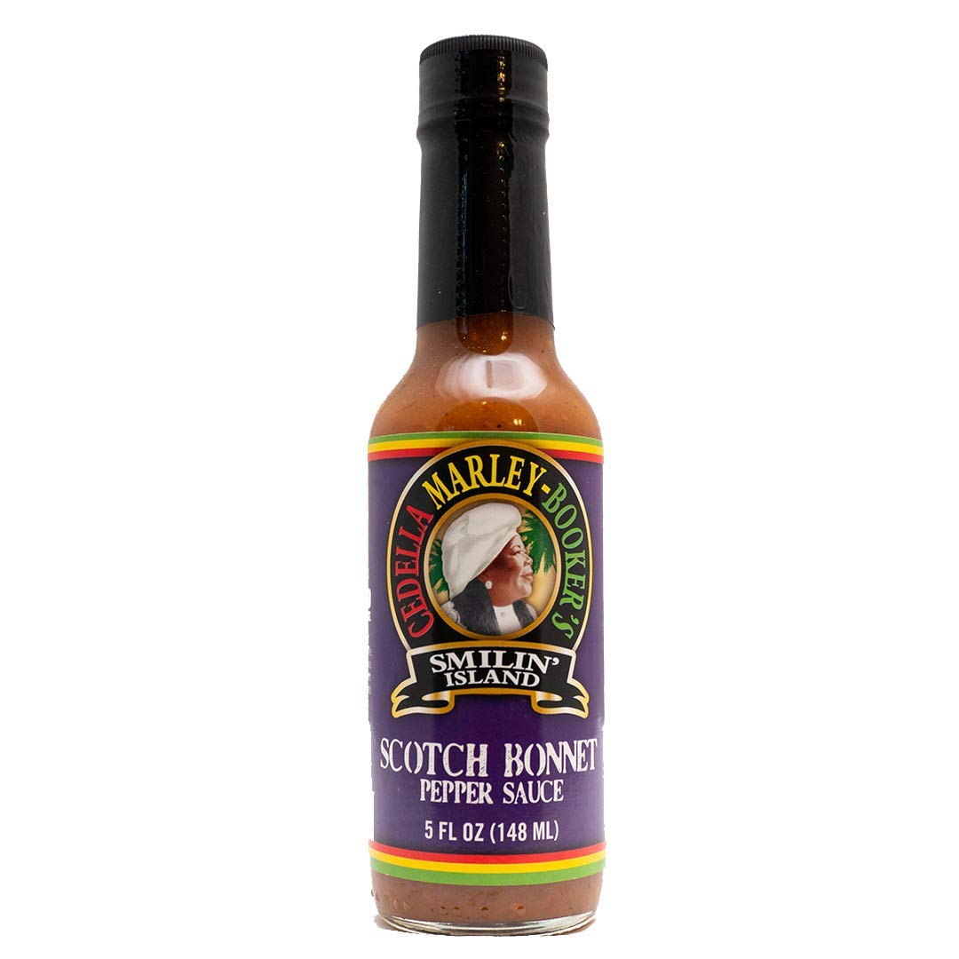 Scotch Bonnet Pepper Sauce   Authentic Caribbean Hot Sauce by Smilin Island Foods, Made with Habanero and Naga Peppers 1 Bottle 5OUNCES
