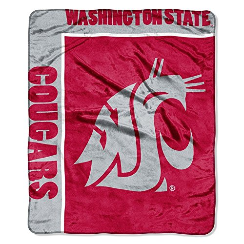 Officially Licensed NCAA Washington State Cougars School Spirit Plush Raschel Throw Blanket, 50