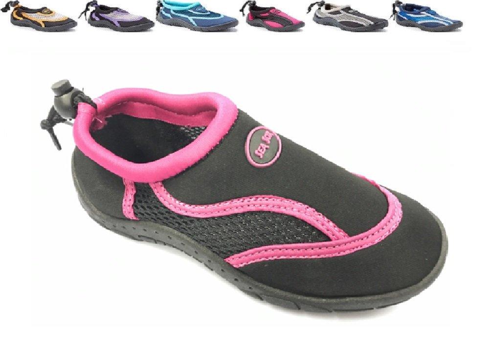 Sea Sox Children's Kids Water Shoes Aqua Socks Beach Pool Yoga Exercise Waterproof Durable Adjustable Toggle Unisex