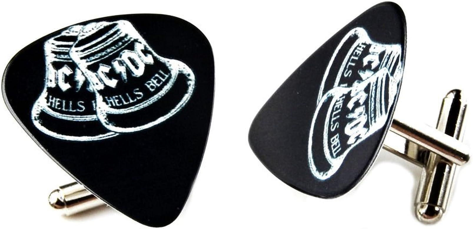 AC DC púa de guitarra Gemelos: Amazon.es: Joyería