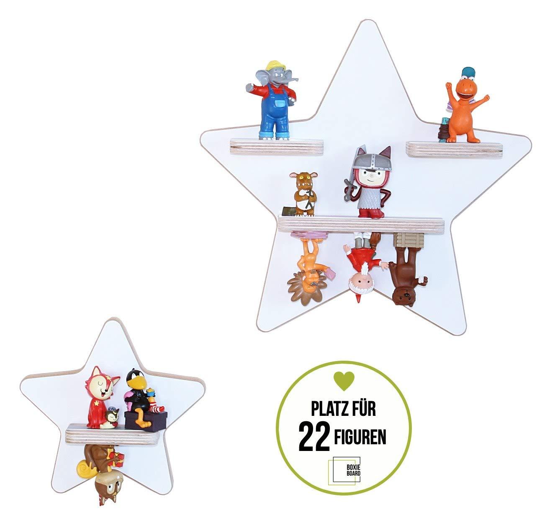 Generisch 2er Sammelset Sterne weiß/Glossy - das Regal für die Musikbox