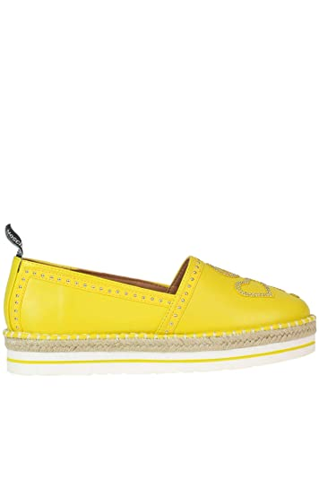 2d6077bf83b5 Amazon.com  Love Moschino Women s Mcglcab000005024e Yellow Faux Leather  Espadrilles  Shoes