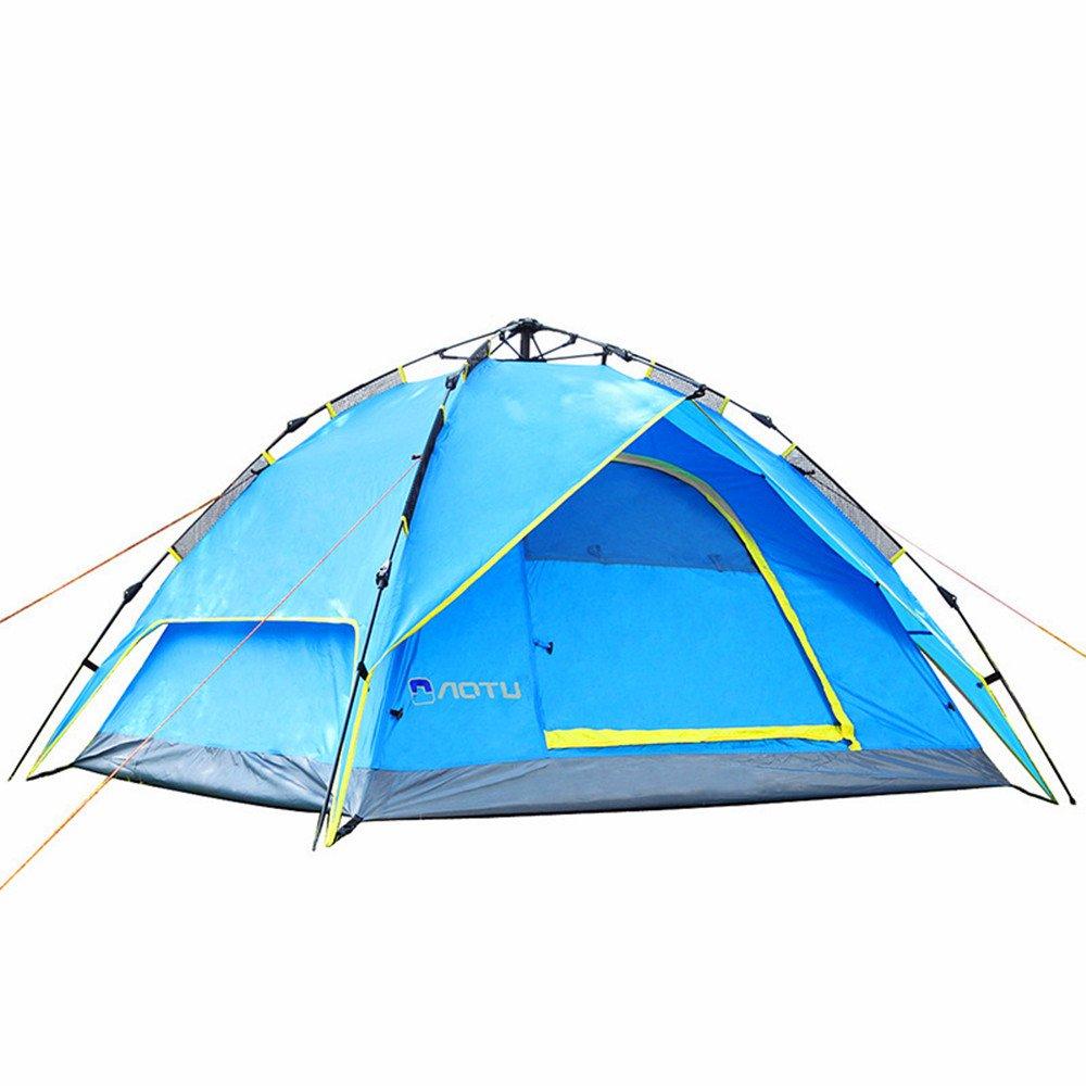 TLMY 自動テントアウトドアダブルダブル3-4民間防衛嵐キャンプ厚い テント   B07GM744VY