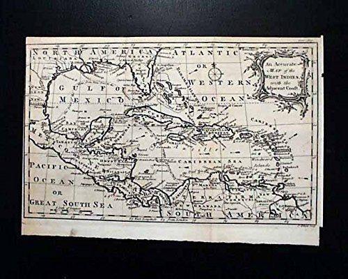 Map Of America Gulf Coast.Rare Early Southern America Florida Gulf Coast West Indies Map
