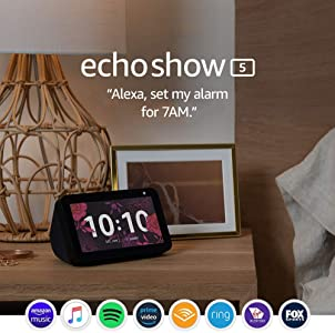 Echo Show 5 – Compact smart display with Alexa - Charcoal Fabric