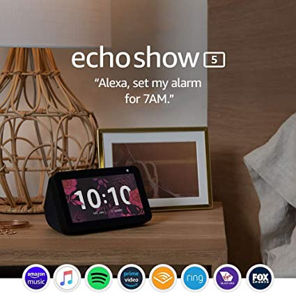 Echo Show 5 – Compact smart display with...