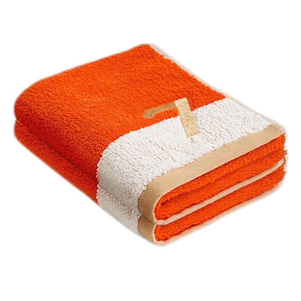 SHIJINHAO-Towel Cotton 2 Pieces 2 Surface Hangable Water Absorption Not Deformed Low Hair Removal Washcloth Children, 4 Colors (Color : Orange-50X27CM, Size : 18Piece)