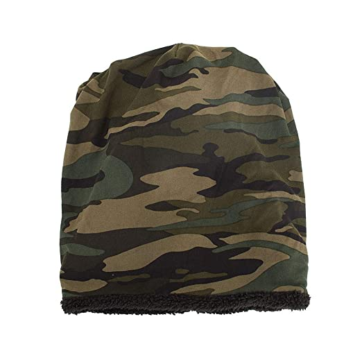 1b492fe332a Byyong Unisex Warm Baggy Camouflage Crochet Winter Wool Ski Beanie Skull Caps  Hat at Amazon Men s Clothing store