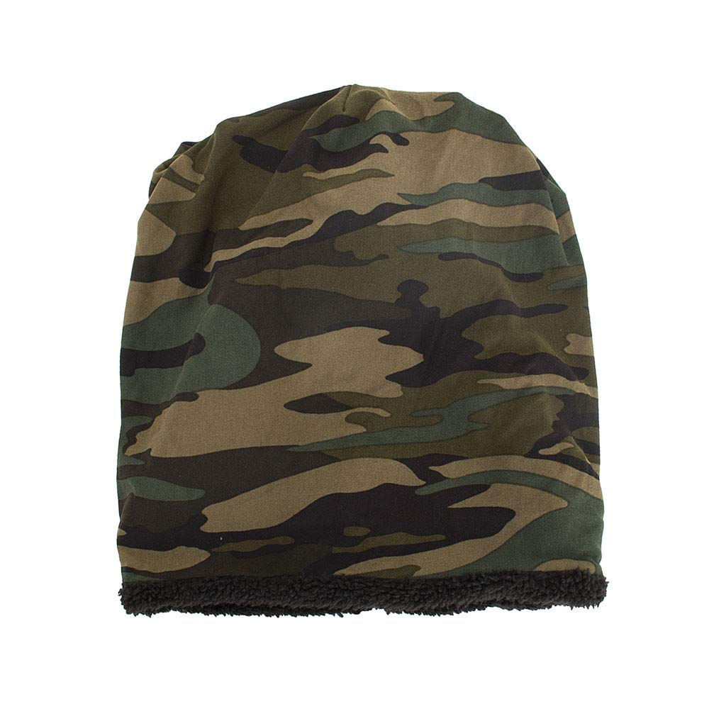 Zottom Cappello da Sci da Uomo Caldo Baggy Camouflage allUncinetto Invernale Lana Berretto Skull Caps Cappello