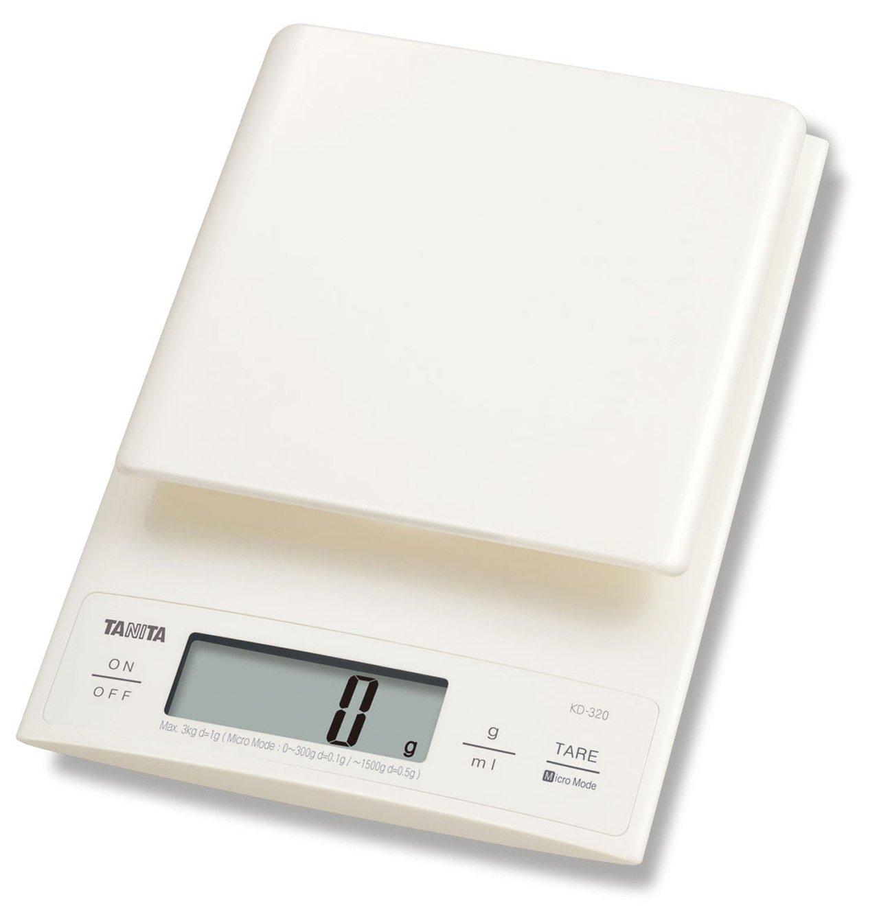 Tanita KD320WH33 Küchenwaage 3 kg mit Feinteilung 0.1 g: Amazon.de ...