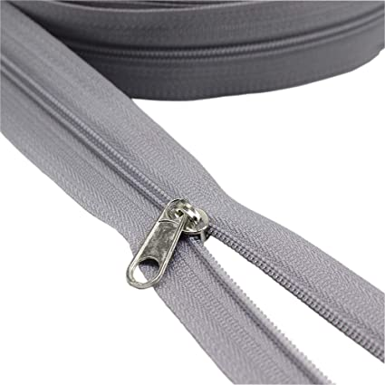 4891793b4e Amazon.com  YaHoGa  3 Grey Nylon Coil Zippers by The Yard Bulk 10 ...