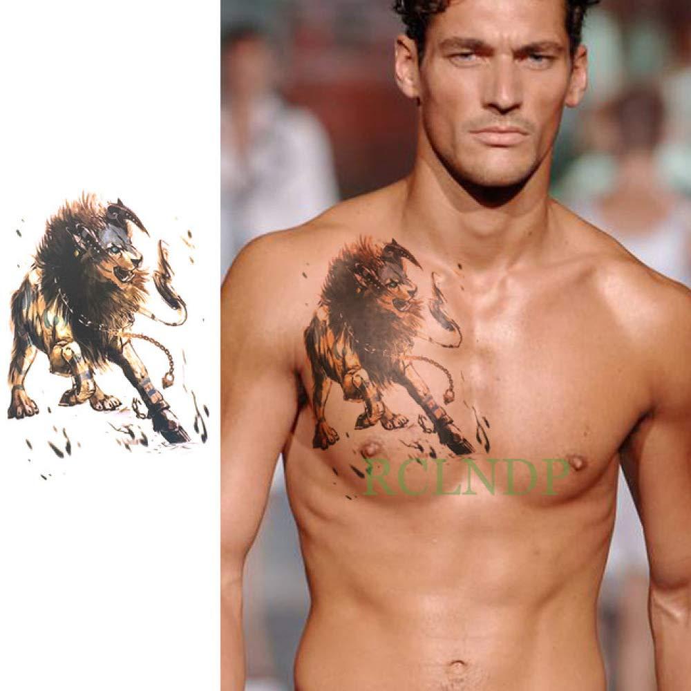 tzxdbh 2Pcs-Etiqueta engomada del Tatuaje a Prueba de Agua pez Sol ...