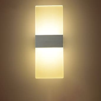 stairs light restaurant meal home lighting decoration. NAVIMC Modern Acrylic 6w LED Wall Sconces Aluminum Lights Fixture On/Off Decorative Lamps Night Stairs Light Restaurant Meal Home Lighting Decoration