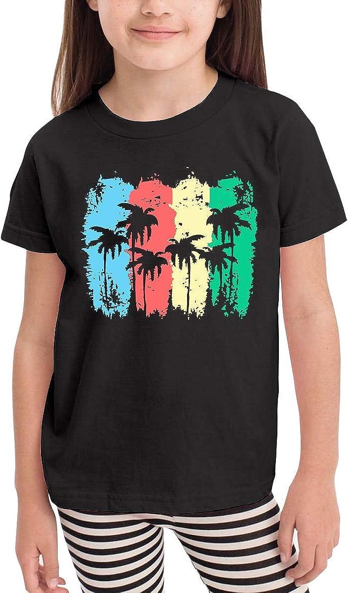 HTUAEUEHRH Palm Tree Fashion Toddler//Infant Crewneck Short Sleeve Shirt Tee Jersey