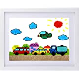 Kids White Artwork Frame 11x14 Picture Frame Display Pictures 8x10 with Mat or 11x14 Without Mat with Plexiglass Front Protection to Hang on The Wall