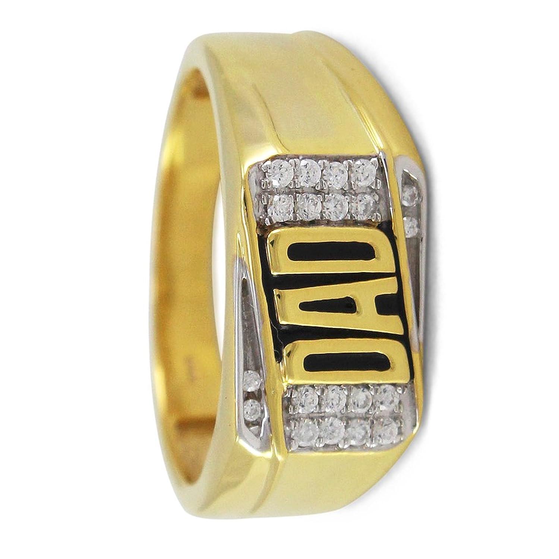 ceed3b0682bd Lilu joyas el día del padre sólido 925 plata 14 K chapado en oro diamante  Sim